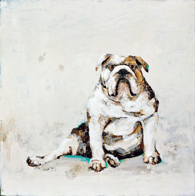 Sitting Bulldog - 48x48